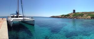 Miguel Catamaran a Cala D'Oliva - Asinara