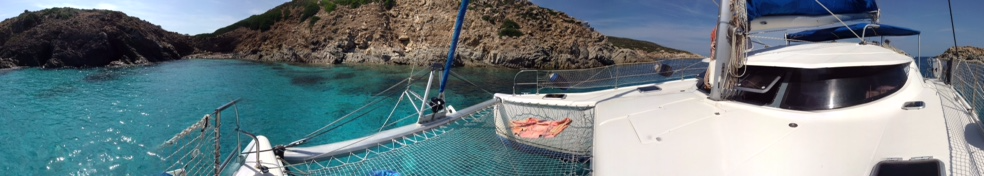 panoramica catamarano asinara