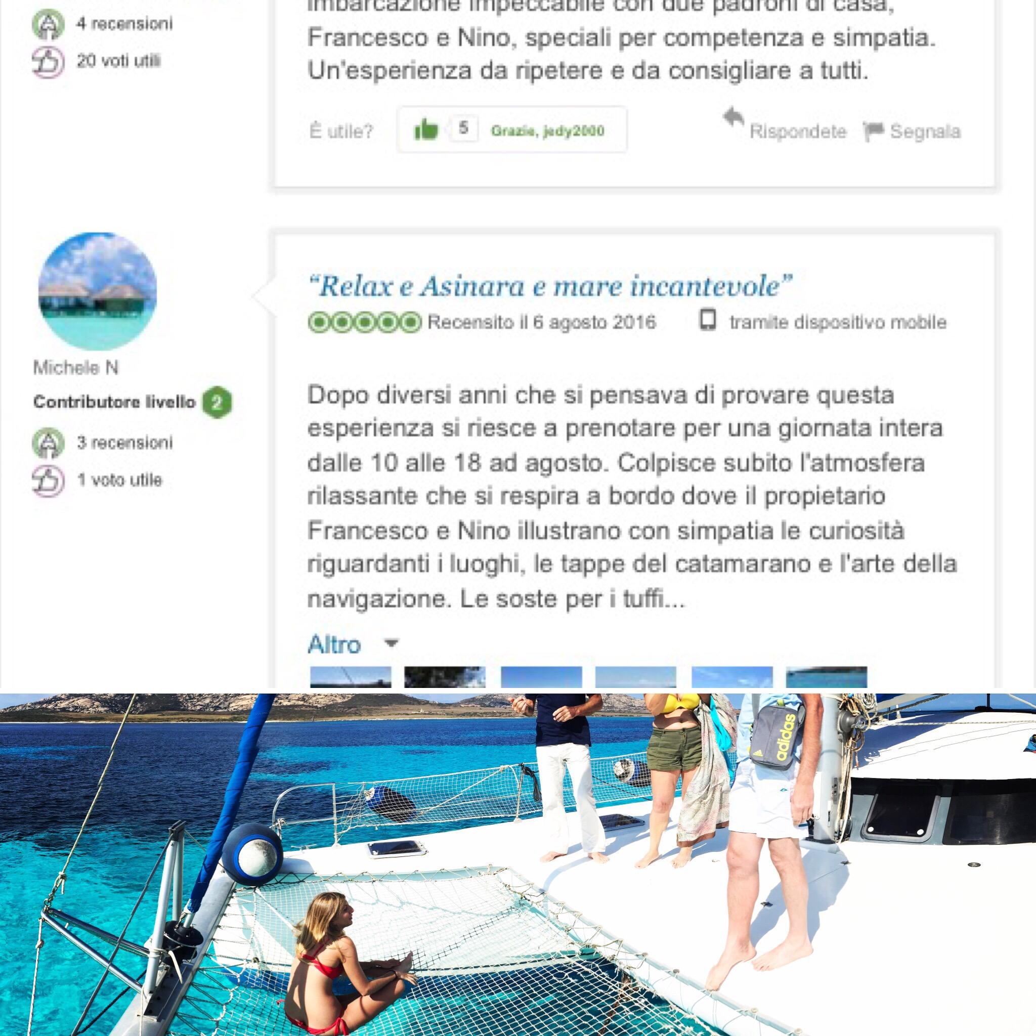 recensioni asinara catamaran escursioni e vacanze in catamarano