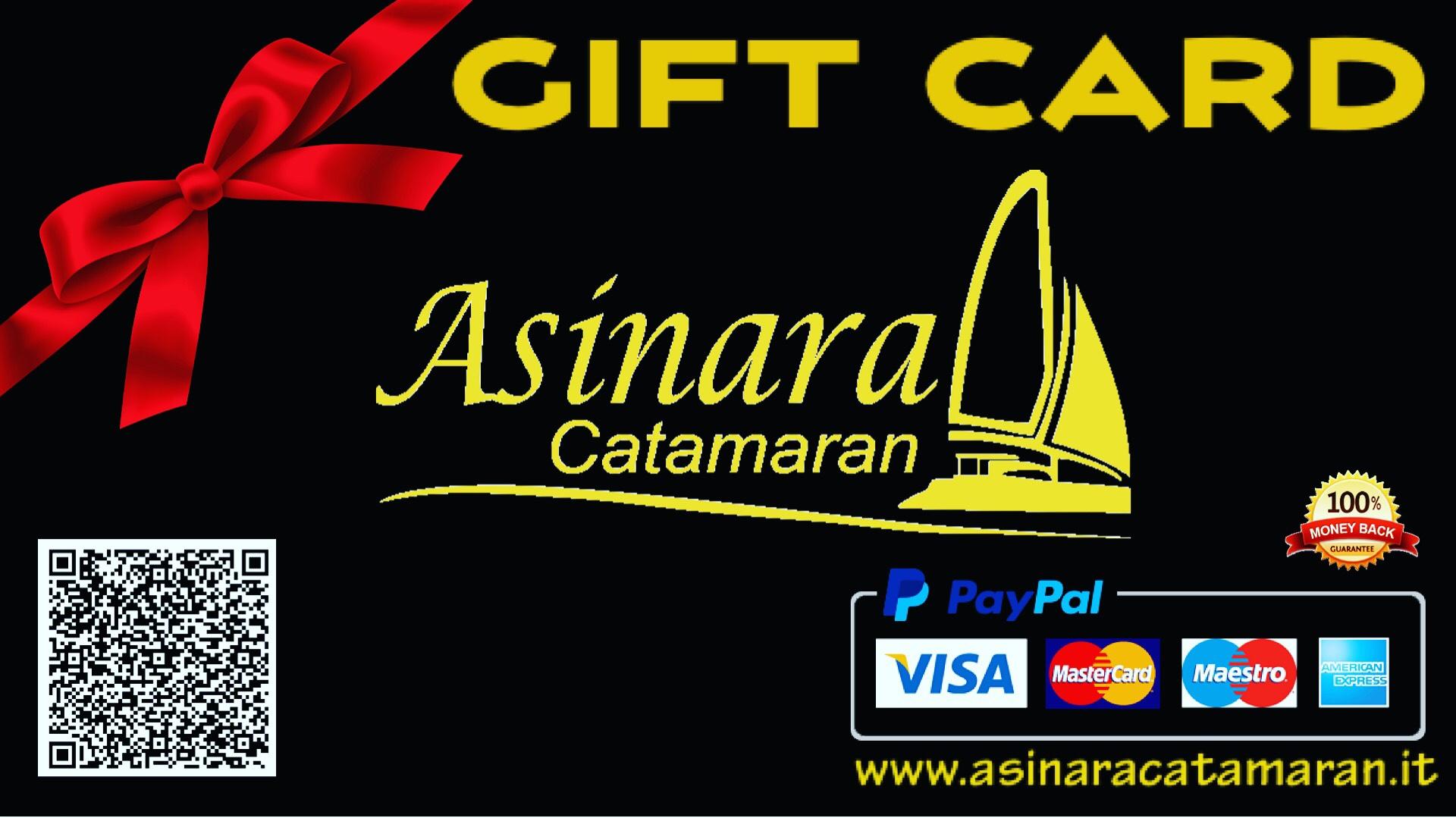 gift card nera con scritte oro, codice qr per prenotare online